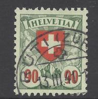 1940 : Helvetia Nr. 163y - Kreidepapier  - Rüti (ZH) - Suisse