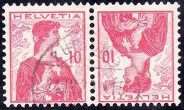 Schweiz Suisse 1909: Kehrdruck Tete-bêche Zu K4 Mi K6 O ZÜRICH 24.IV.23 (Zu CHF 27.00) - Tête-Bêche