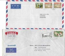Lebanon 2 Covers Sent To Denmark. # 375 # - Lebanon