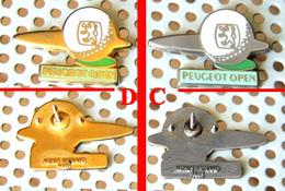 Arthus Bertrand : 1 Pin's PEUGEOT Open GOLF CHromé - Concerne Uniquement La Version Chromée (droite Sur La Photo) - Arthus Bertrand