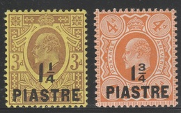 British Levant 1910 - SG 22 & 23 - King Edward VII - MNH - British Levant