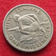 New Zealand 1 One Shilling 1963 KM# 27.2  Nova Zelandia Nuova Zelanda Nouvelle Zelande - Nouvelle-Zélande