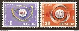 Zu 436-437 / Mi 823-824 / YT 756-757 Série Complète ** / MNH SBK 4,- Voir Description - Suisse