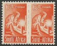South Africa - 1942 Welder 6d Pair MNH **   SG 102  Sc 96 - South Africa (...-1961)