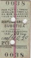 Biglietto Ferroviario Slovenia - Treni