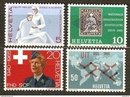 Zu 428-431 / Mi 808-811 / YT 743-746 Série Complète ** / MNH SBK 7,- Voir Description - Suisse