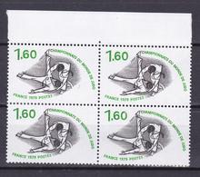 N° 2069 Championnat Du Monde De Judo: Beau Bloc De 4 Timbres Neuf - Unused Stamps