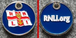 Jeton De Caddie Métal - Royal National Lifeboat - Sauvetage En Mer (Angleterre) - Double Face - Jetons De Caddies