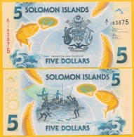 Solomon Islands 5 Dollars P-new 2019 UNC Polymer Banknote - Isola Salomon