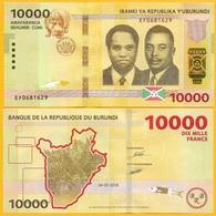 Burundi 10000 (10,000) Francs P-new 2018(2019) UNC - Burundi