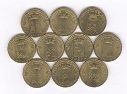 Lot De 10 Monnaies Commémoratives Russie / Russia 10 Roubles Différentes - Rusia