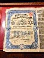 Banco  Hipotecario  De  Crédito  Territorial  Mexicano , S.A. -------Action  De  100 $ Mexicano - Banque & Assurance