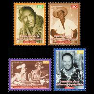 Polynésie Française  2001  Célèbrités   Cat Yt     N° 638 à 641   N** MNH - Unused Stamps