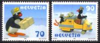 Zu 964-965 / Mi 1673-1674 / YT 1601-1602 BD PINGU ** / MNH Voir Description - Suisse