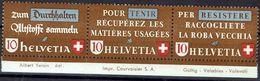 Schweiz Suisse 1942: Altstoff-Zusammendruck Se-tenant Zu Z36a Mi SZd.7 ** Postfrisch Mit Rand +margin MNH (Zu CHF 70.00) - Se-Tenant