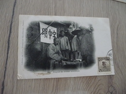 CPA Chine China Diseur De Bonne Aventure   1 Old Stamps Circulated Paypal Ok Out Of Europe - China