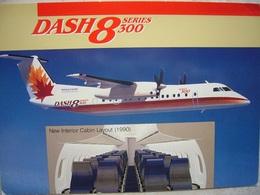 Avion / Airplane / Boeing Canada - De Havilland Division / DASH 8 Series 300 / Size: 12X16,5cm - 1946-....: Ere Moderne
