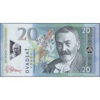 TWN - CZECHOSLOVAKIA - 20 Korun Československych 2019 100th Ann. Czechoslovakia - Polymer  Prefix H1 UNC Private Issue - Banknotes