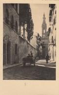 FIRENZE-CAMPANILE DI SANTA CROCE-BELLA ANIMAZIONE-CARTOLINA VERA FOTOGRAFIA- NON VIAGGIATA ANNO 1934 - Firenze