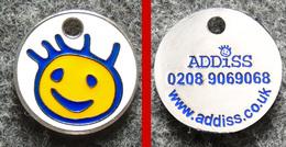 Jeton De Caddie Métal - ADDISS - Troubles De L'autisme Chez L'enfant Et L'adulte (Angleterre) - Double Face - Jetons De Caddies
