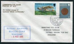 "1985 Guernsey ""STAR CAPRICORN"" Cover. South Devon Paquebot, Torbay Seaways Hydrofoil - Guernsey"