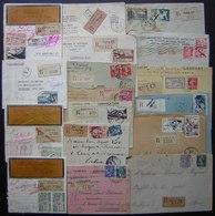 Lot De 18 Lettres Recommandées, Jolis Timbres, Voir Photos ! - Postmark Collection (Covers)