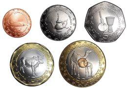 MAURITANIA MAURETANIA 2017- 2018  15 + 1 + 5 + 10 + 20  OUGUIYAS CON 2 BIMETALLICHE UNC - Monete