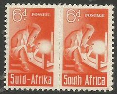 South Africa - 1942 Welder 6d Pair MNH **   SG 102a  Sc 96 - South Africa (...-1961)