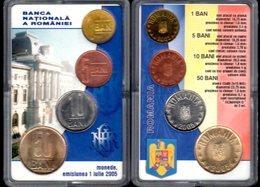 Official Set BNR 1+5+10+50 BANI 2005 / UNC - Romania