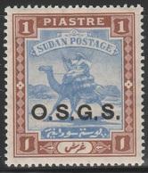 Sudan 1903 - SG O8, 1pi - O.S.G.S. - Camel Rider - MLH - Sudan (...-1951)