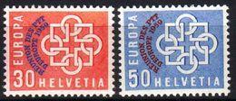 Zu 349-350 / Mi 681-682 / YT 632-633 EUROPA 1959 MONTREUX ** / MNH Voir Description - Suisse