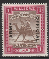 Sudan 1905 - SG A1, 1m - ARMY OFFICIAL - Camel Rider - MLH - Sudan (...-1951)