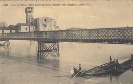PISA-PONTE DI FERRO E TORRE GUELFA DELL'ANTICO ARSENALE-BELLA CARTOLINA VIAGGIATA IL 15-5-1907 - Pisa