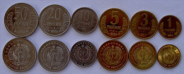 UZBEKISTAN 1994 SERIE 6 MONETE 50-20-10-5-3-1 TIYIN - Uzbekistan