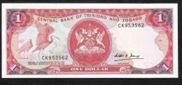 TRINIDAD & TOBAG0  P36b 1  DOLLAR 1985  #CK Signature 5    UNC. - Trinidad & Tobago