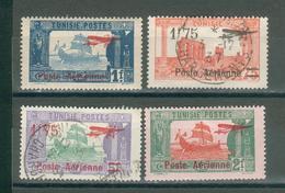 TUNISIE , Protectorat Français ; Aériens ; 1927 ; Y&T N° 3-4-5-6  ; Lot : 18  ; Neuf/oblitéré - Tunisie (1888-1955)