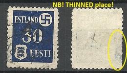 ESTLAND ESTONIA 1941 German Occupation Tartu Dorpat Michel 3 Y O NB! Defect! Thin Place!! - Occupation 1938-45