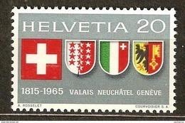 Zu 432 / Mi 819 / YT 752 Série Complète ** / MNH Voir Description - Suisse