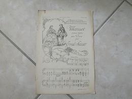 Menuet & Attente (Air Populaire Havanais -(Musique Émil Von Sauer & Édouard Mangin)- Partition (Piano) - Instruments à Clavier