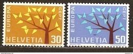 Zu 389-390 / Mi 756-757 / YT 698-699 EUROPA 1962 Série Complète ** / MNH Voir Description - Suisse