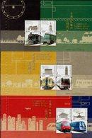 Hong Kong - 2010 - Centenary Of Railway Service In Hong Kong - Mint Souvenir Sheets Set (from Prestige Booklet) - Neufs