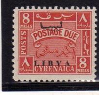 LIBIA LIBYA 1951 REGNO INDIPENDENTE CIRENAICA CYRENAICA SEGNATASSE POSTAGE DUE TASSE 8m MNH - Libya
