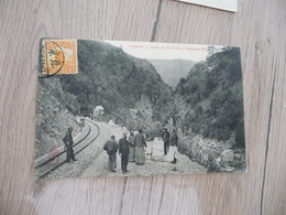 CPA Chine China Yunnam Vallée Du Pa Ta Ho Km 237 Railway   1 Old Stamps Circulated Cachet Paypal Ok Out Of Europe - China