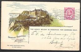 T 00230 - Canada, Entier Postal Château Frontenac, Canadian Pacific Railway - 1903-1954 Kings