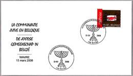 COMUNIDAD JUDIA EN BELGICA - Jewish Community In Belgium. MENORAH. Wavre 2008 - Jewish
