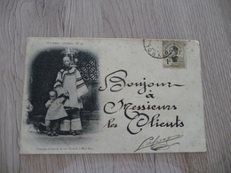CPA Chine China Yu Nan Femme Chinoise Et Son Enfant 1 Old Stamps Circulated Cachet Paypal Ok Out Of Europe - Chine