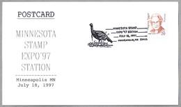 Minnesota Stamp Expo'97 - PAVO DOMESTICO - DOMESTICAL TURKEY. Minneapolis MN 1997 - Paons