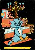 Walt Disney - Disneyworld - Piano - Chats - Chat - Cats - Cat - Les Aristochats - Velours - Feutrine - état - Disneyworld