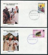 1988 Lesotho Pope John Paul 2, Papal Visit Covers (2) Maseru - Lesotho (1966-...)