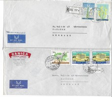 Lebanon 2 Covers Sent To Denmark. # 329 # - Lebanon